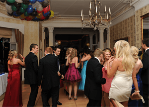 Picture of a group of students at a Prom