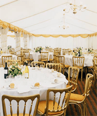 Decorated Marquee interior