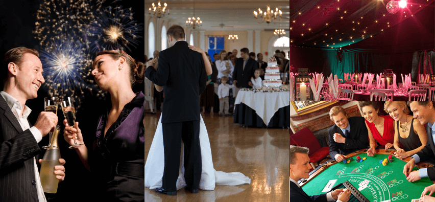 Services offered for weddings
